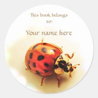 Ladybug Bookplate Sticker