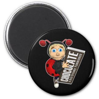Ladybug-Boy-and-Chocolate Magnet