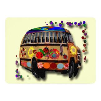 Ladybug Bus 5.5x7.5 Paper Invitation Card