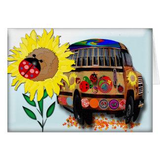 Ladybug Bus Holiday Card