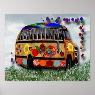 Ladybug Bus Print