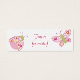 Ladybug Butterfly Baby Shower Favor Gift Tags