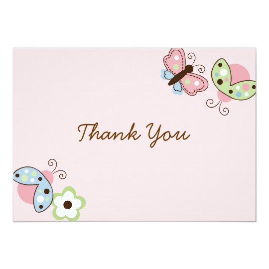 Ladybug Butterfly Birthday Thank You Note Cards