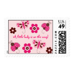 Ladybug Butterfly Flower Postage Stamps
