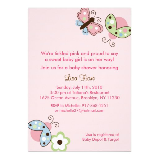 Ladybug Butterfly Garden Baby Shower Invitations