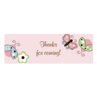 Ladybug Butterfly Garden Birthday Favor Gift Tags Double-Sided Mini Business Cards (Pack Of 20)