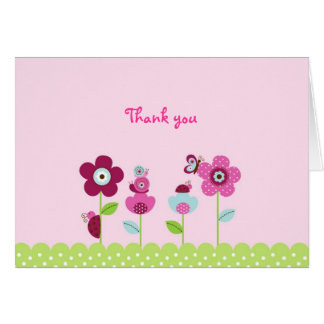 Ladybug Butterfly Garden Thank You Note Cards