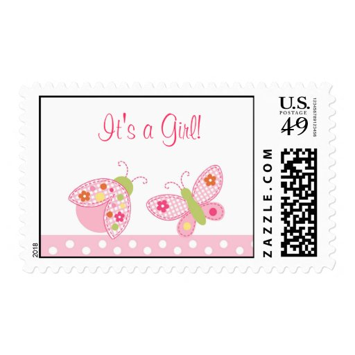 Ladybug Butterfly Personalized Postage Stamps
