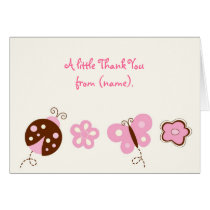 Ladybug Butterfly Thank You Note Cards