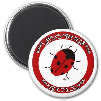 Ladybug button 2 inch round magnet