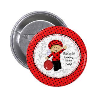 Ladybug Button Favors