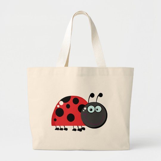 Ladybug Cartoon Character Large Tote Bag