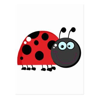 Ladybug Cartoon Character Postcard