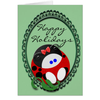 Ladybug Christmas Card