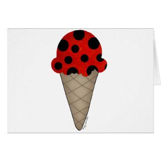 Ladybug Cone Greeting Card