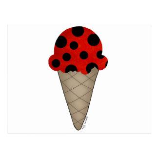 Ladybug Cone Post Card