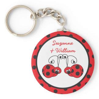 Ladybug Couple Keychain