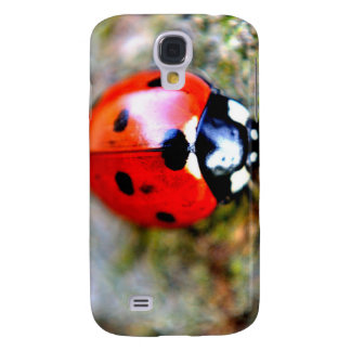 Ladybug Crawling on Tree Trunk Galaxy S4 Cover