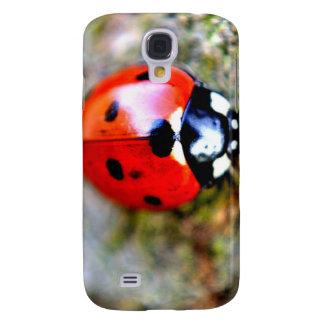 Ladybug Crawling on Tree Trunk Galaxy S4 Cover