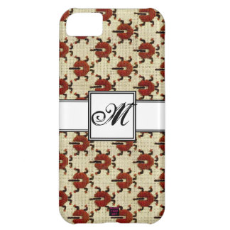 Ladybug Cross-stitch Embroidery Pattern Monogram Case For iPhone 5C