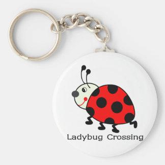 Ladybug Crossing Keychain