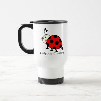 Ladybug Crossing mug