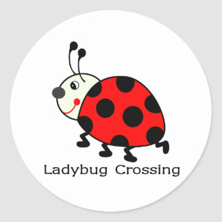 Ladybug Crossing Stickers