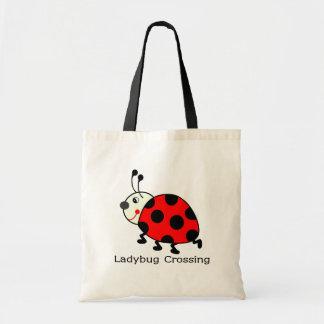 Ladybug Crossing Tote Bag