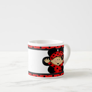 Ladybug Cup 6 Oz Ceramic Espresso Cup
