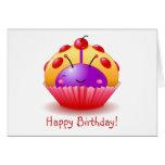 Ladybug Cupcake Birthday Card