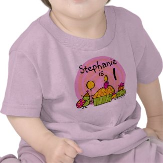 Ladybug Cupcake Customizable Birthday T-shirt shirt