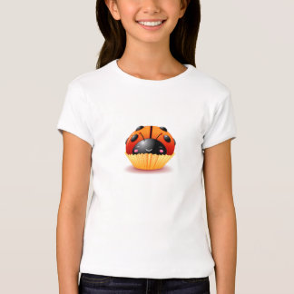 Ladybug Cupcake Girls Shirt
