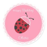 Ladybug Cupcake Topper/Sticker