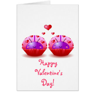 Ladybug Cupcake Valentine Card