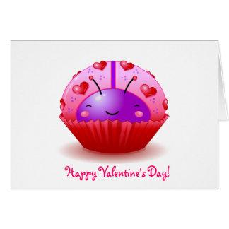 Ladybug Cupcake Valentine's Day Card