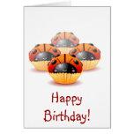 Ladybug Cupcakes Birthday Card