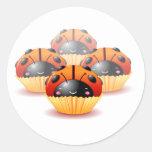 Ladybug Cupcakes Sticker