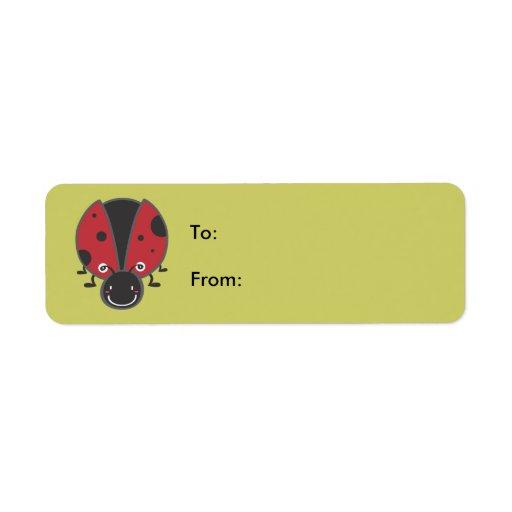 Ladybug Custom Return Address Labels