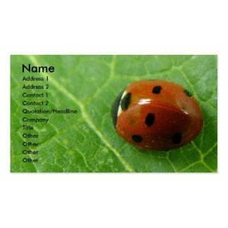 Ladybug Customizable Business Card