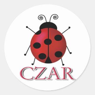 Ladybug Czar Classic Round Sticker