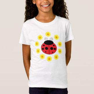 Ladybug Daisies Girls T-Shirt
