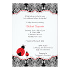 Ladybug Damask Baby Shower | Birthday Party invite
