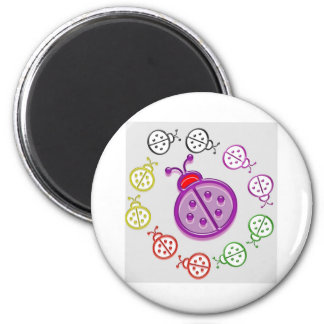 LadyBUG Dance: KIDS love Lady BUG n insects as pet Refrigerator Magnets