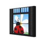 LadyBug Day Wrapped Canvas Canvas Print