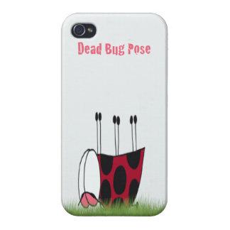 Ladybug Dead Bug Yoga Pose ~ iPhone 4 Case