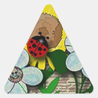 Ladybug Delight Triangle Sticker