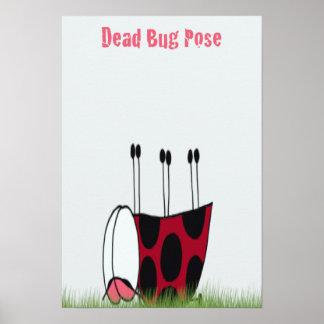 Ladybug Demonstrating The Dead Bug Yoga Pose Print