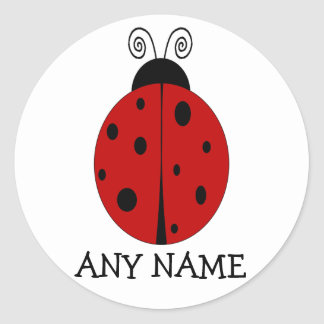 LADYBUG design customized STICKER with ANY NAME