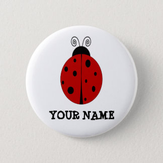 LADYBUG design customized with ANY NAME Button