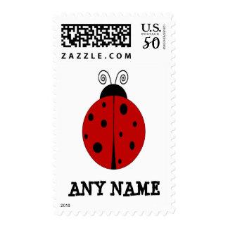 LADYBUG design customized with ANY NAME Postage